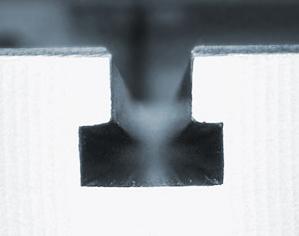 Drážky tvaru T