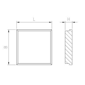 Technische Zeichnung Richtplatte massiv
